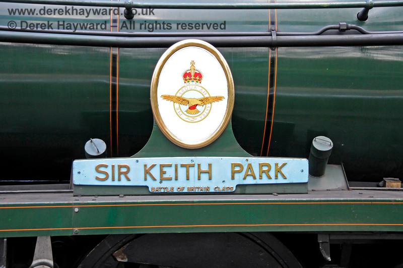 "The nameplate on 34053 ""Sir Keith Park"". Eridge 29.05.2021 20658"