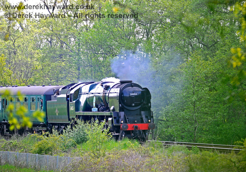 34053 approaching Forge Farm Crossing. 29.05.2021 18000