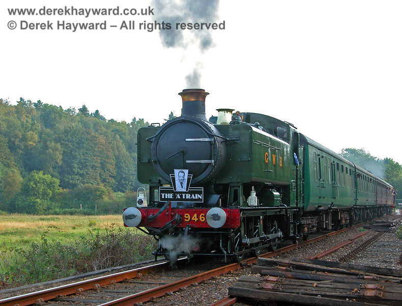 9466 at Birchden with a train that travelled as far as the Network Rail gates.  17.09.2006