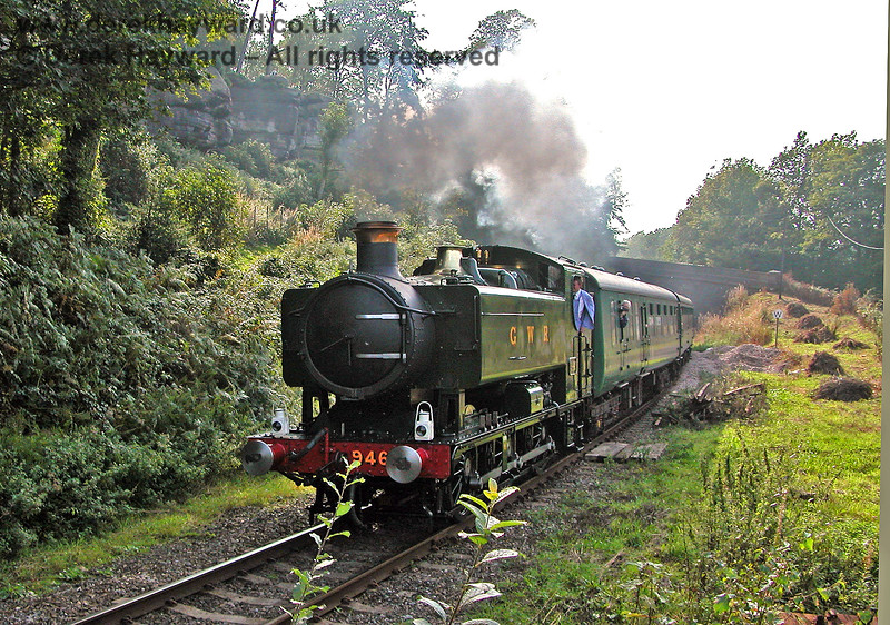 9466 steams east from High Rocks. 17.09.2006