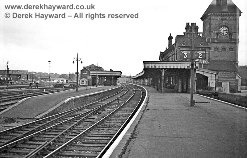 Tunbridge Wells West pictured on 30 January 1969, looking west.  After closure in 1985 everything in this photograph with the exception of the station building was demolished.  John Attfield retains all rights to this image.
