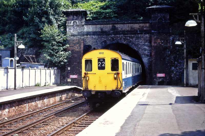 1012 heads an Up train into Tunbridge Wells Central on Saturday 18.07.1970.   Eric Kemp retains all rights to this image.