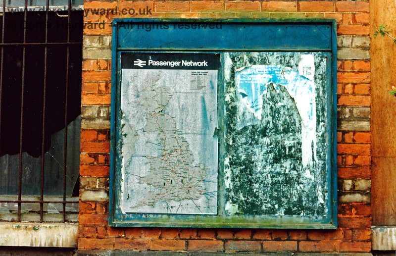"""Tunbridge Wells West Station, pictured shortly after closure in 1985.  The """"Passenger Network"""" map will probably need some revision.  Nick Mander retains all rights to this image."""