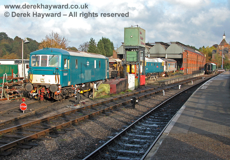 A general view of Tunbridge Wells shed. 29.10.2005
