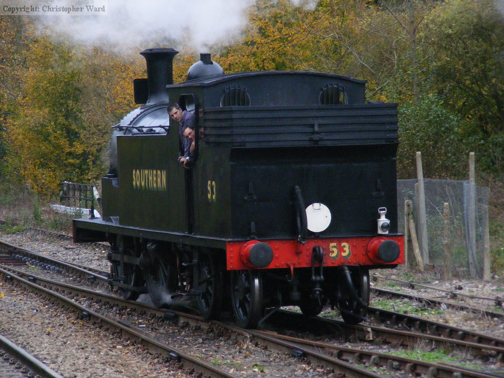 53 backs into the siding