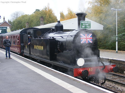 53 prepares to leave with the Flyer to Groombridge