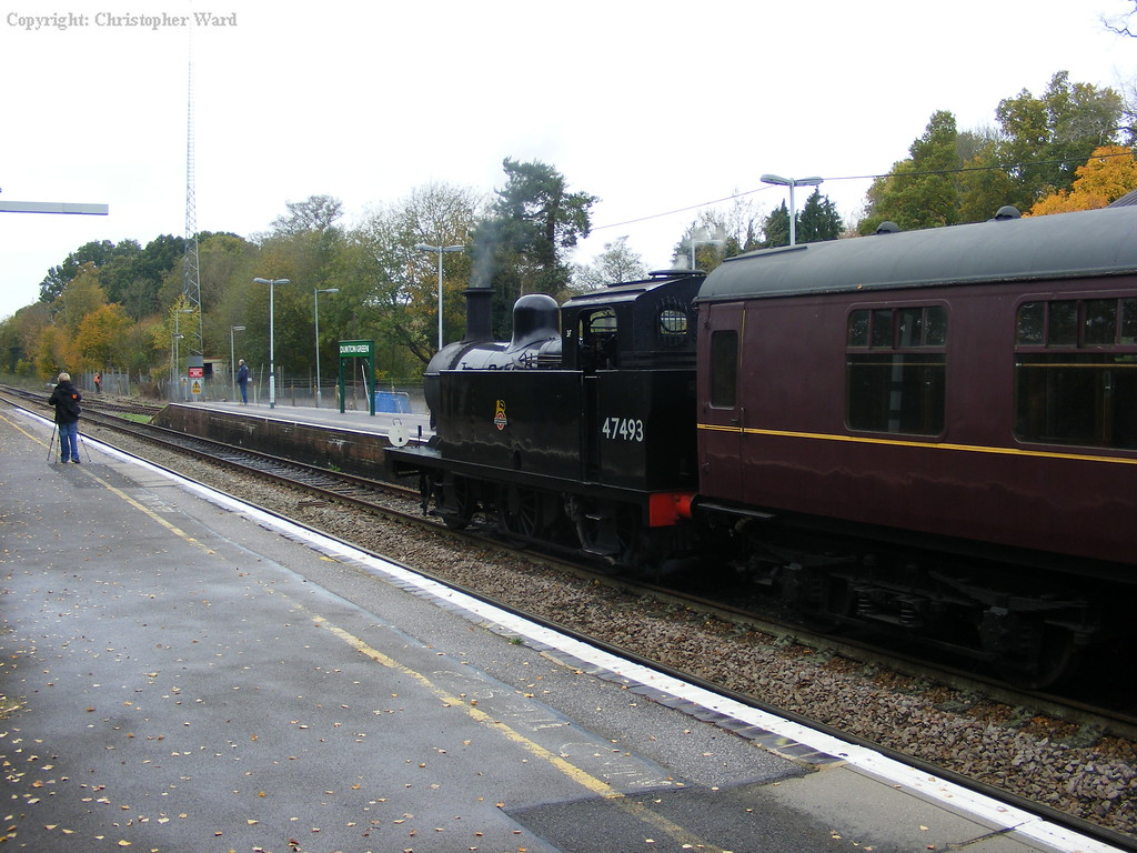 Jinty 47493 prepares to take over the 'Flyer