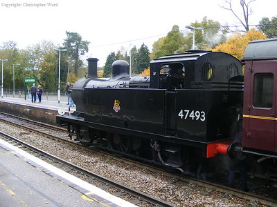 47493 prepares to leave Eridge