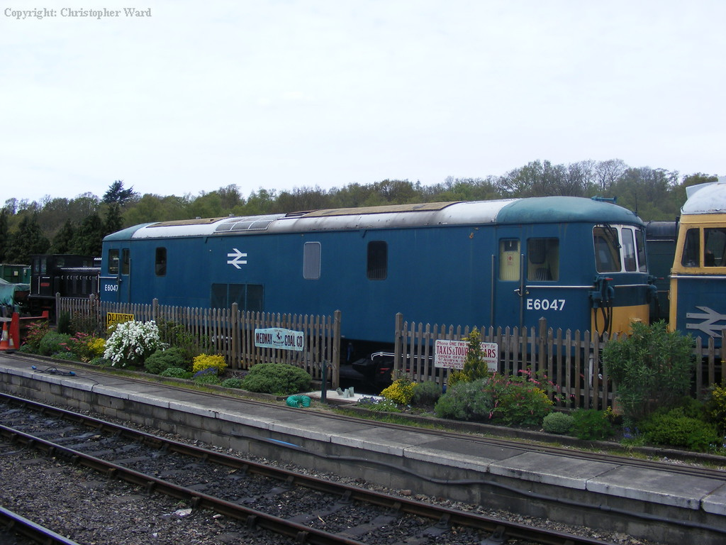 E6047 sits in the yard