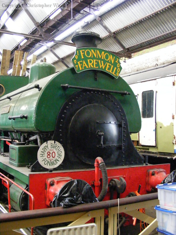 Fonmon in the shed at Tunbridge Wells