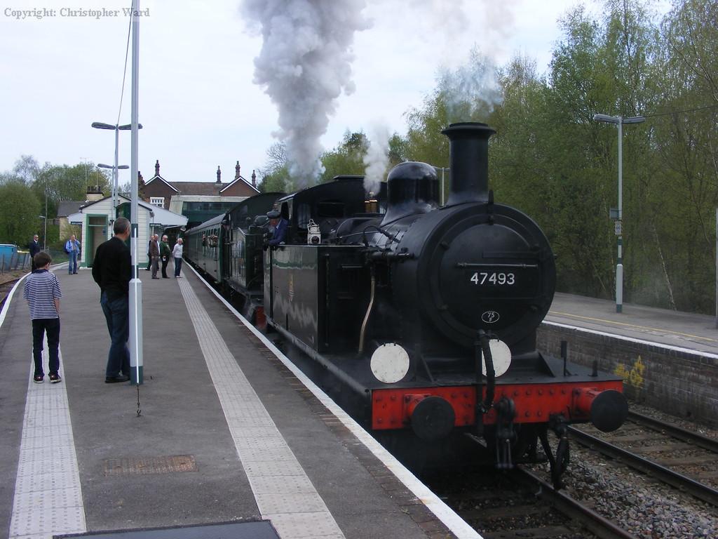 The two ex-BR locomotives get underway