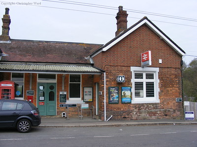Eridge station frontage on the Spa Valley side
