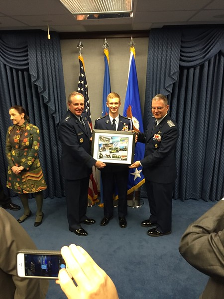 Air Force Chief of Staff Gen. Mark A. Welsh III presents Gen. Spaatz Award Presentation
