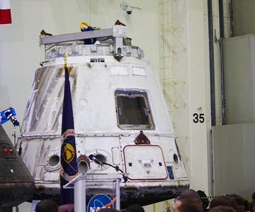 1:44PM - Dragon capsule, the first commercial vehicle to dock and return from the ISS