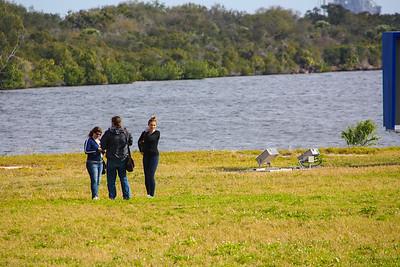 11AM - Social Media friends, Jessika, Chris & Katrina in front of the turning basin