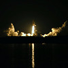 Space Shuttle Discovery STS-128 Launch on 08/28/09 @ 2359 hrs. From the banks of the river in Titusville, FL (Approximately 10 miles from the launch pad)
