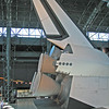 Thrusters & vertical fin of Space Shuttle Enterprise