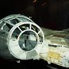The cockpit of Han Solo's ship, the Millennium Falcon.