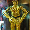 "C3P0 protocol droid, specializing in human-cyborg relations. He often tells everyone he meets that he is fluent in ""over six million forms of communication"". He is generally seen with his long-time counterpart, R2-D2."