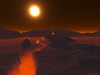 A volcanic rift erupts in this red dwarf system. #SPACE-15