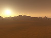 The sun sets on Mars with a light dust storm filling the area. #SPACE-9