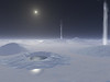 Artists conception on what it would be like on the surface of Enceladus. #SPACE-3