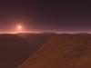 A martian canyon greets the morning sun. #SPACE-8