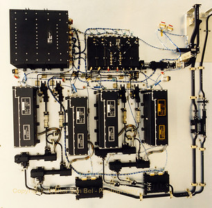 Top view of the Flight Model of the 12.5/20/30 GHz Propagation Package Payload (at Alcatel Bell).