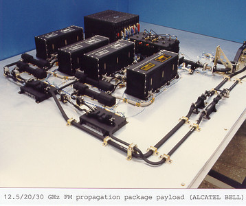 The Flight Model of the 12.5/20/30 GHz Propagation Package Payload (at Alcatel Bell)