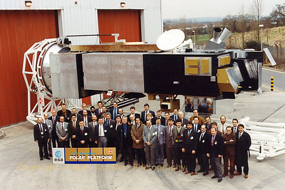 The PPF-Team in front of the mock-up of the PPF at Bristol.
