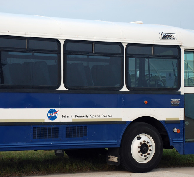 """One of the NASA """"limo`s"""" that transport members of the press to various locations within Kennedy Space Centers restricted area`s."""