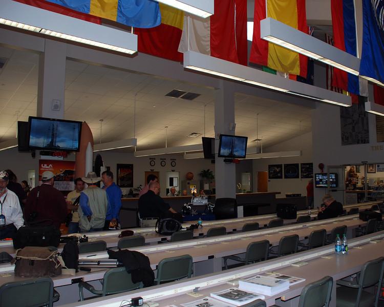 Inside the press facility at NASA.