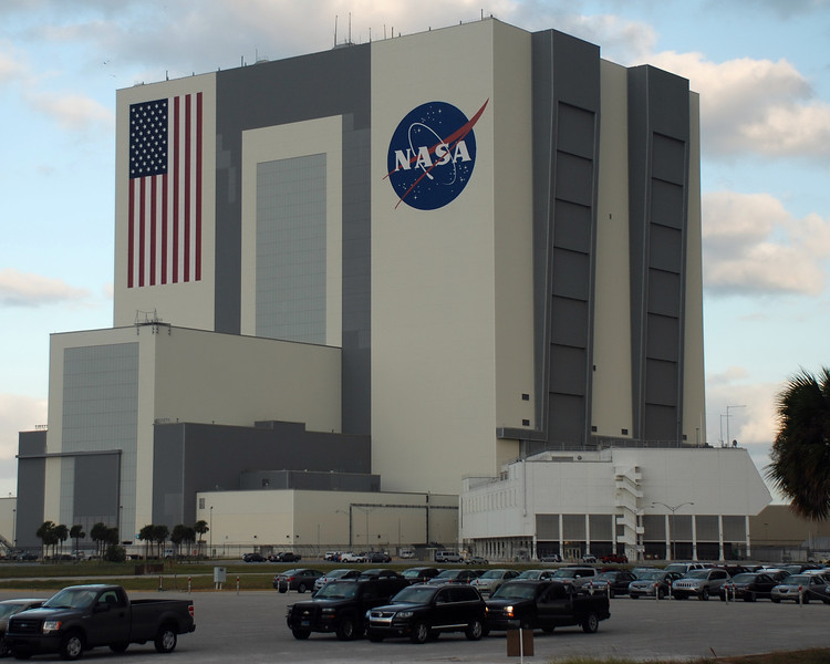 The vehicle assembly building and the launch control complex building.