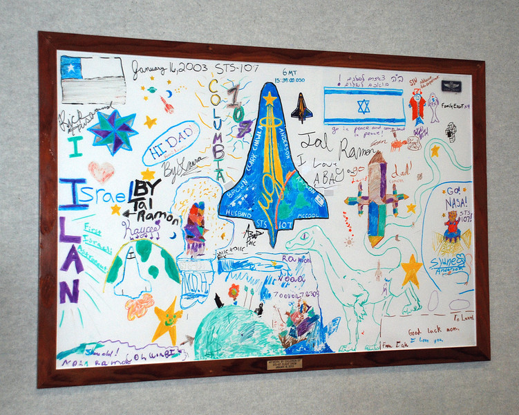 This is the drawing board of the STS-107, Space Shuttle Columbia  that was lost on re-entry.