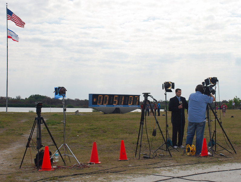 A live shot after launch