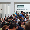 "Press from around the world wait for STS-134 crew to do the ""walk out'."