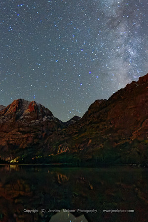 Milky Way on a Moonlit Night over Silver Lake near Mammoth, California