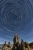 North Star and Star Trails over Mono Lake Tufa
