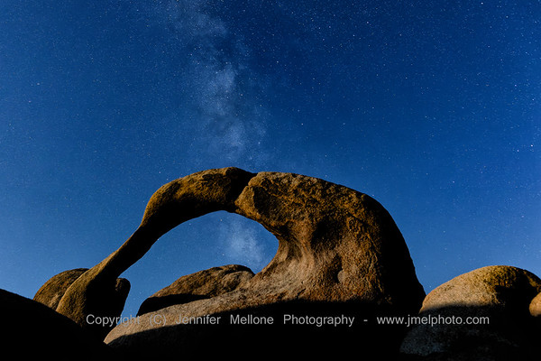 Moonlight over Mobius Arch and Milky Way