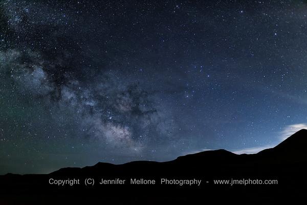 Milky Way and Silver Lining Near Reno, Nevada
