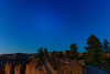Milky Way and Stars Set as Sun Rises at Bryce National Park's Sunset Point