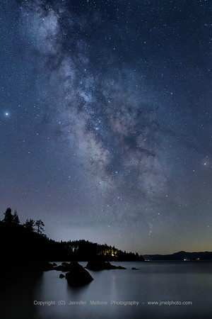 Milky Way and Reflections over Lake Tahoe
