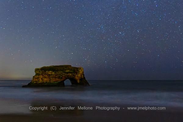 Starry Night at Natural Bridges State Beach in Santa Cruz, California