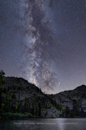 Vertical Milky Way Reflects over Eagle Lake in Desolation Wilderness