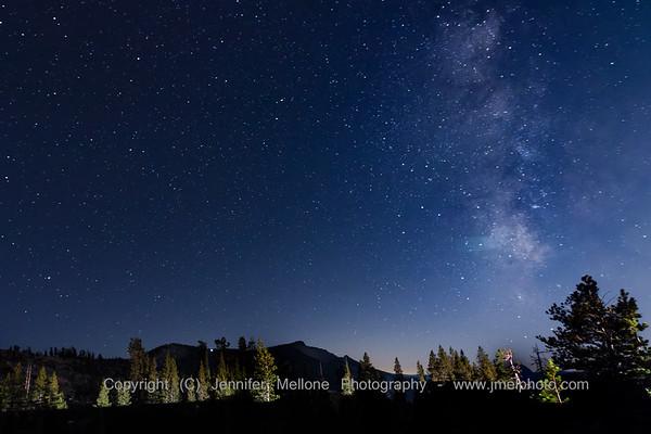 Milky Way along Yosemite National Park's Tioga Road