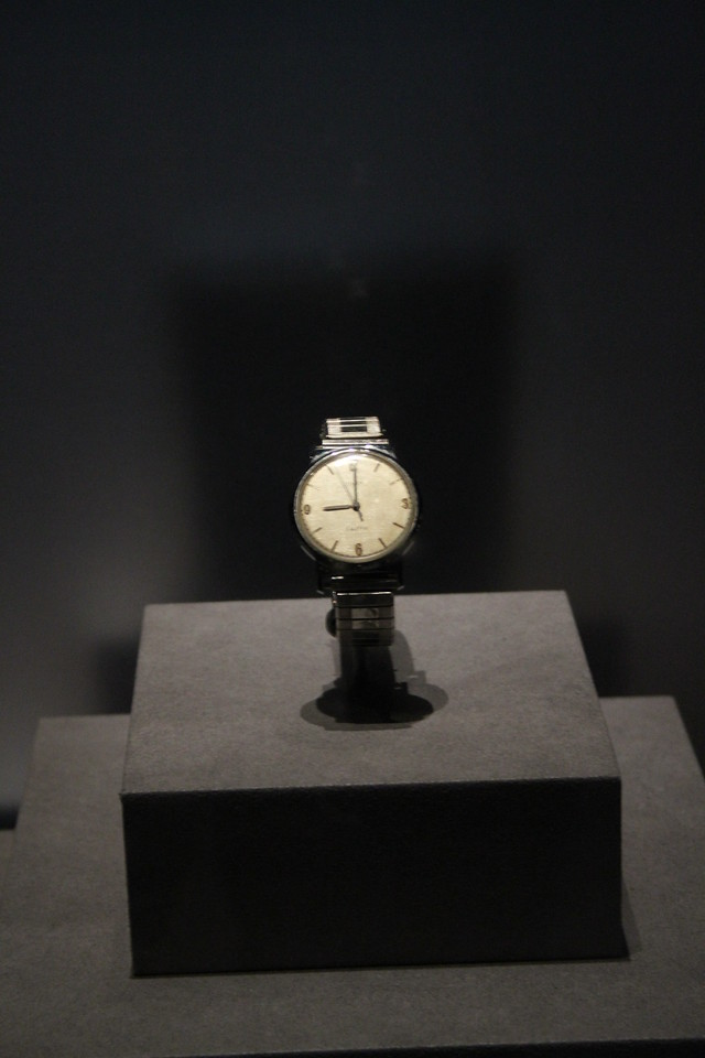 The watch Roger Chaffee was wearing at the time of the Apollo 1 fire.