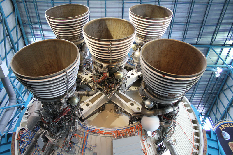 Business end of the Saturn V second stage.