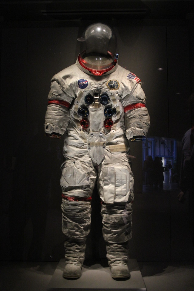 Alan Shepards space suit used during his Apollo 14 moonwalks