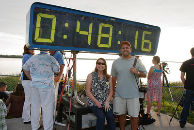 Me and Michele in front of the countdown clock.