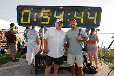 Me and Dad and the countdown clock. You can see I was wearing my Sunday best.  What the heck was I thinking? :)  Check out all the people in the reflection on the clock.